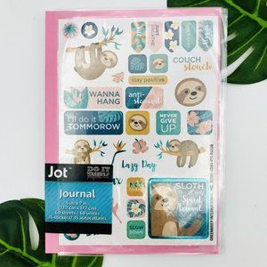 2/$10 SALE! New Pink Sloth Journal With Stickers